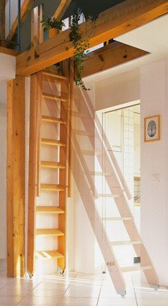 nice space-saving design for use in miniatures [STAIRS, Ladder-Style / repinned per Juliane Speigl]
