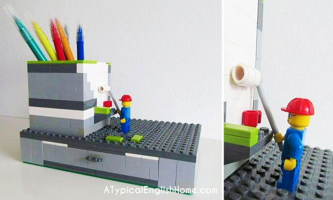 21 Insanely fredda LEGO fai da te Mobili e Complementi d'arredo di creazioni: # 14 LEGO scrivania organizzatore fai da te
