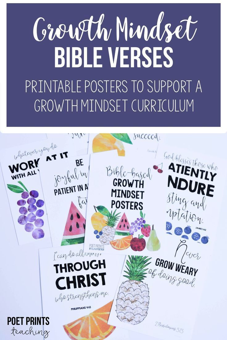 Bible verse posters that go perfectly with a growth mindset curriculum.  Help to encourage students to build resiliency from a Biblical perspective.