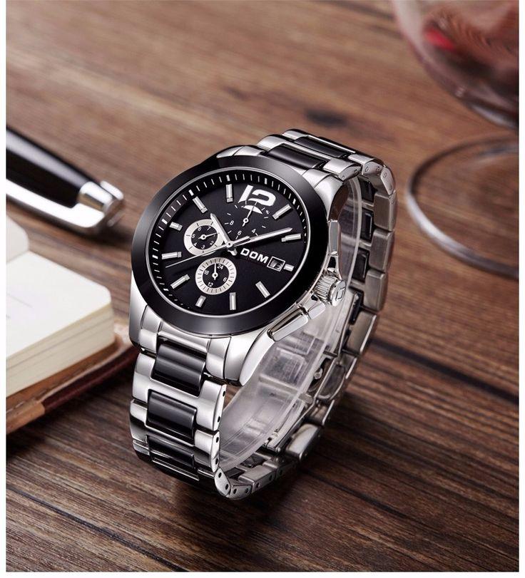 DOM 2016 Mechanical Stainless SteelWatch Mens Waterproof Watches Fashion Brand Luxury Watch Men Watches Top Brand Luxury Montre