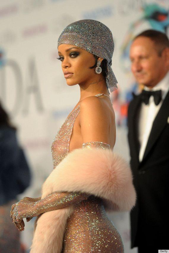 Rihanna is a glittering goddess in custom Adam Selman
