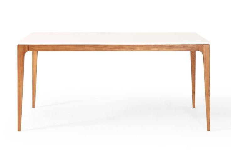 Table de salle à manger design scandinave en bois Bâle Maggia de face