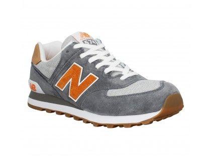 new balance ml574 gris orange