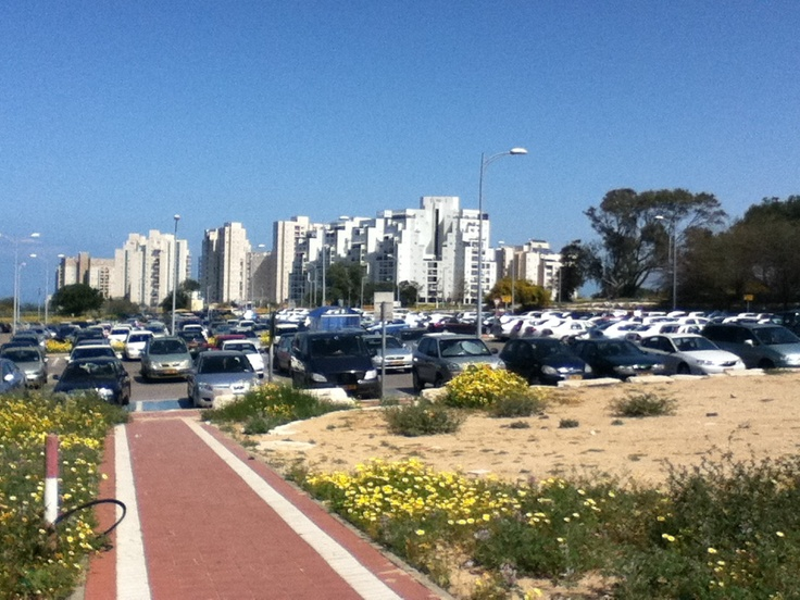 Ashkelon, Israel.  View to the city from Barzilai Medical Center.