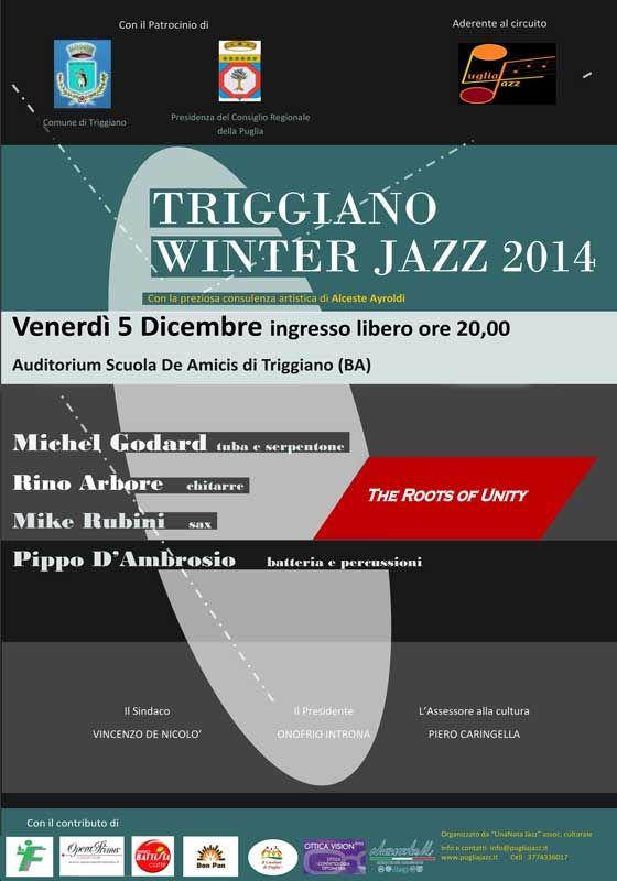 #Triggiano Winter #Jazz 2014,2^ Edizione, venerdì 5 dicembre 2014 ore 20,00 c/o Auditorium della ''Scuola De Amicis'' a Triggiano (Ba)
