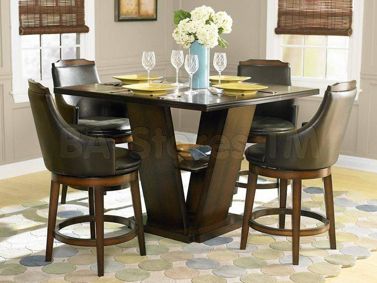 Counter Height Pedestal Dining Table Part - 22: Homelegance Bayshore Counter Height Dining Table - Oak - Accent Your Dining  Space With The Transitional Homelegance Bayshore Counter Height Dining Table  ...