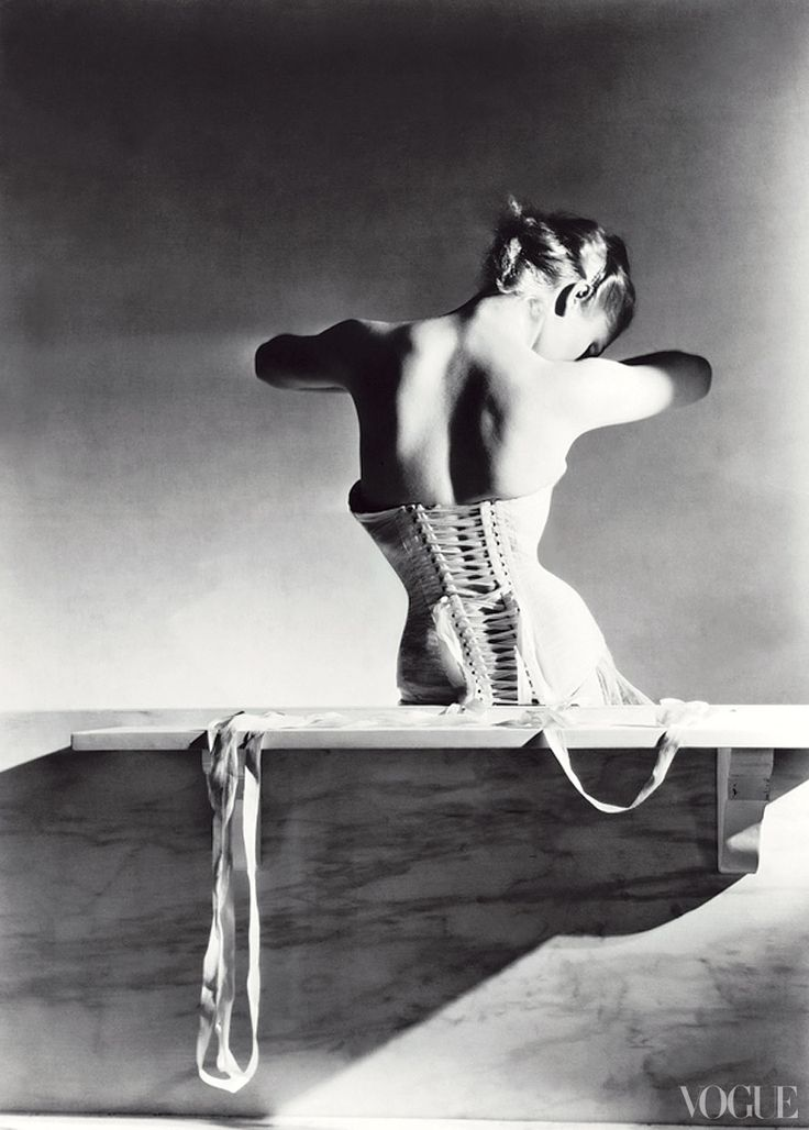 Vogue, September 15, 1939  Manboochers corset    Photographed by Horst P. Horst