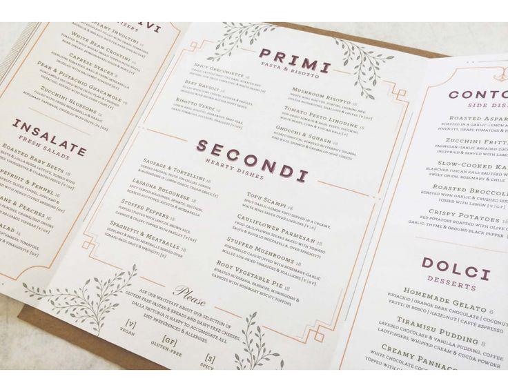 16 best Restaurant Menus images on Pinterest Restaurant, Diners - italian menu