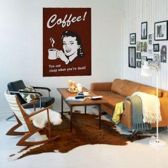 Kávézó hölgy : Színes matricák - http://katicamatrica.hu/HomeDeco/szines-nyomtatott/kavezo-holgy