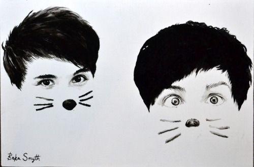 dan and phil cat whiskers wallpaper - Google Search