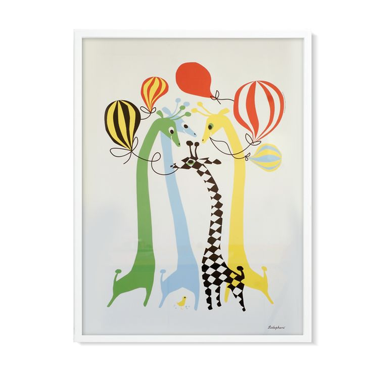 Litografi Giraffes | Olsson & Gerthel