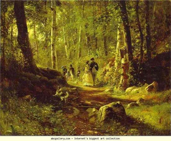 Ivan Siskin: Séta az erdőben, 1869