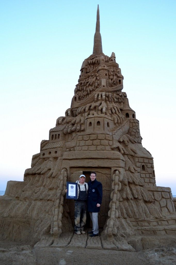 Best World Records Images On Pinterest World Records - This towering sand sculpture just broke the world record for the tallest ever sandcastle
