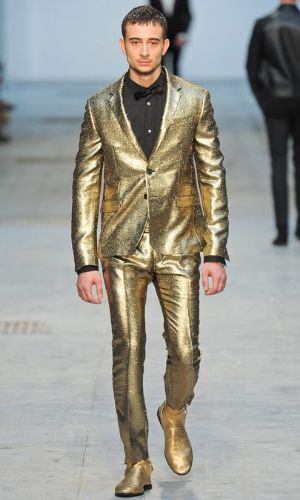 Image result for INFUSE METALLICS golden jacket men dress photo