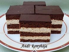 Kakaós - pudingos szelet - Andi konyhája - Sütemény és ételreceptek képekkel