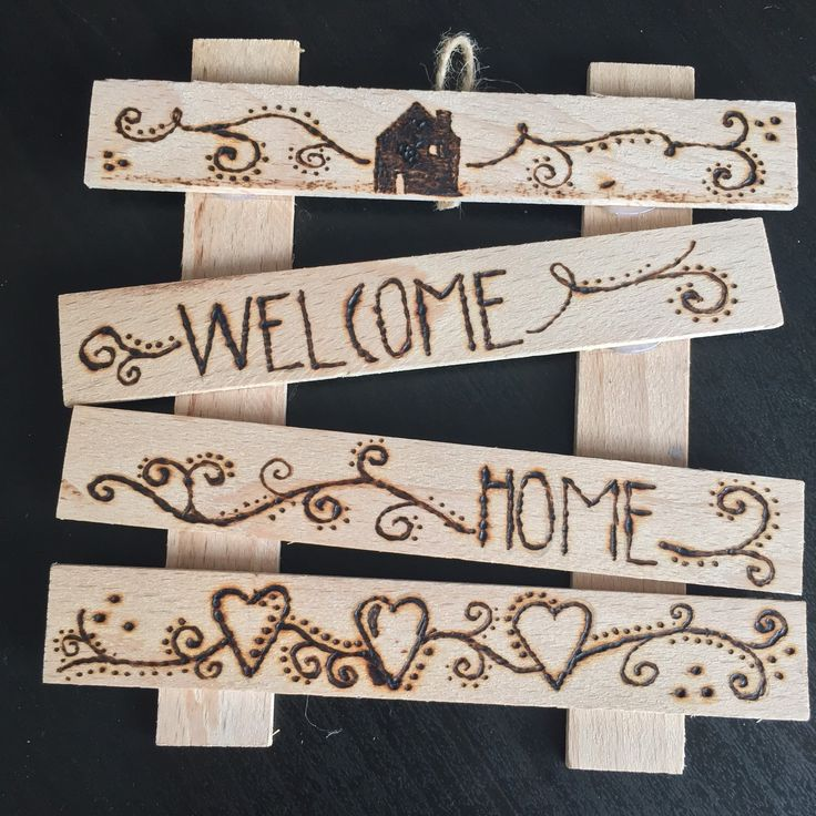 A personal favorite from my Etsy shop https://www.etsy.com/listing/246821178/welcome-home-wall-decoration