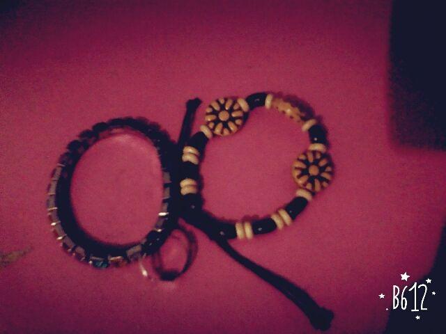 gelang manik2 kayu, gelang manik2 emas, cincin non batu
