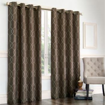 """Gramercy Embroidered Faux-Silk Window Panel - 50"""" x 84"""" Dinning Room?"""