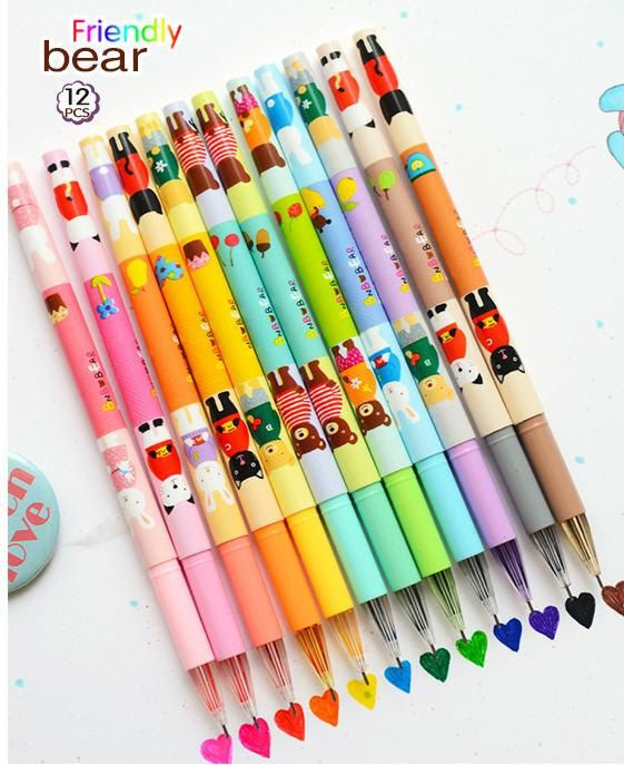 Rainbow Beautiful & Colourfull Lovely Pens. ☺❤