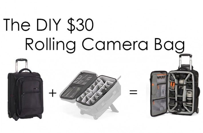DIY rolling camera bag. I don't have enough equipment to need anything like this but I thought it was a genus idea!