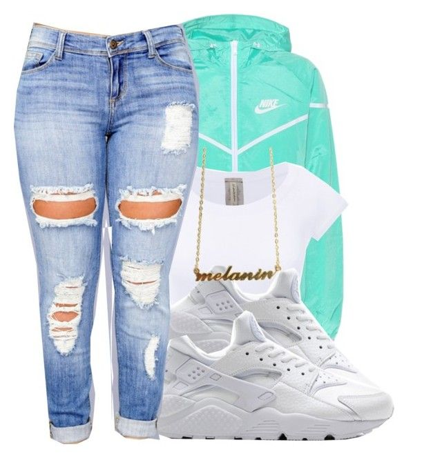 """#schoolfits"" by eazybreezy305 ❤ liked on Polyvore featuring NIKE, Clayton, schoolflow, schoolstyle and bts"