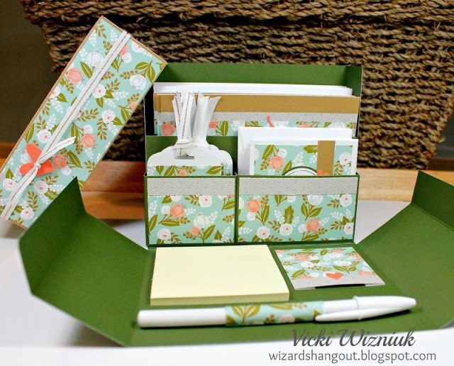 I have seen these Stationery Boxes over the years, but have never made one, until now.     I used the new CTMH Hello Lovely papers for th...