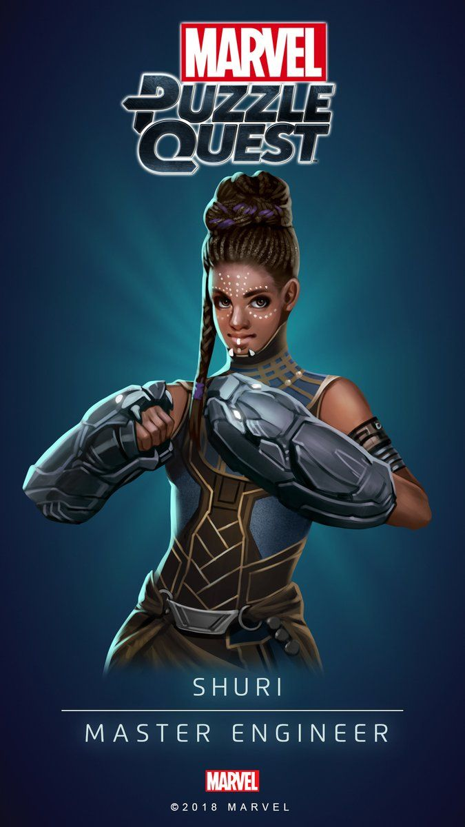 Shuri (Master Engineer)   4 Stars   Profile Face   Marvel PUZZLE QUEST