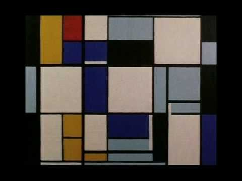 Famous Paintings Mondrian- from tree to Broadway boogie woogie.  Outstanding.  Just active images and music.