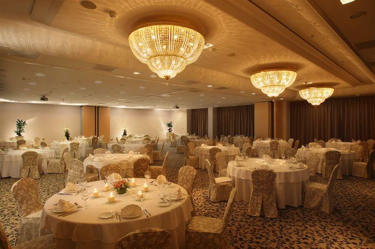 Spirit Hotel Thermal Spa Sarvar, Hungary. #conference #room #crystal #chandelier #lighting #design #meeting #event