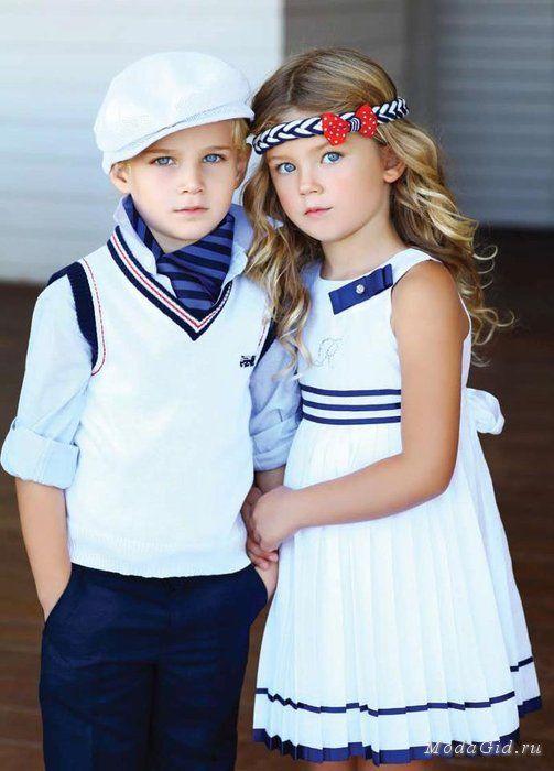 морской стиль в одежде для детей