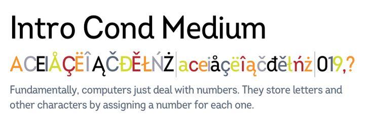 Download Intro Cond Medium | Fonts.com in 2020 | Web font, Font ...