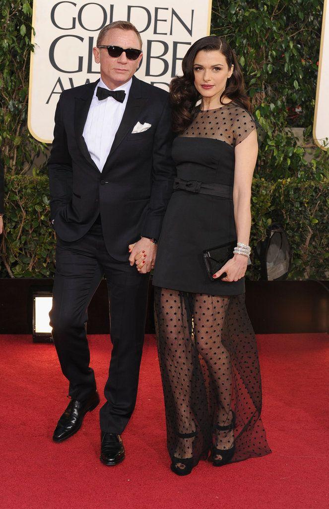 Daniel Craig in Tom Ford and Rachel Weisz in Louis Vuitton. Golden Globes 2013. Stunning couple. OMG