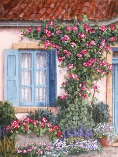 Дом в цветах - анимация на телефон №1326719
