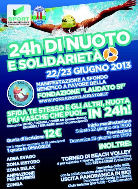 24 h di Nuoto e Solidarietà a Desenzano http://www.panesalamina.com/2013/11871-24h-di-nuoto-e-solidarieta-a-desenzano.html