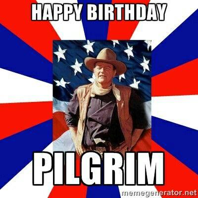Happy Birthday Pilgrim John Wayne Cake