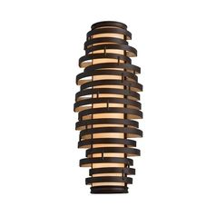 "Modern Sconce with Brown Glass Shade in Bronze / Gold Leaf Finish 700+ 24"" tall"