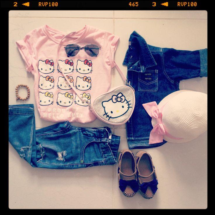 Hello Kitty on sunny day <3