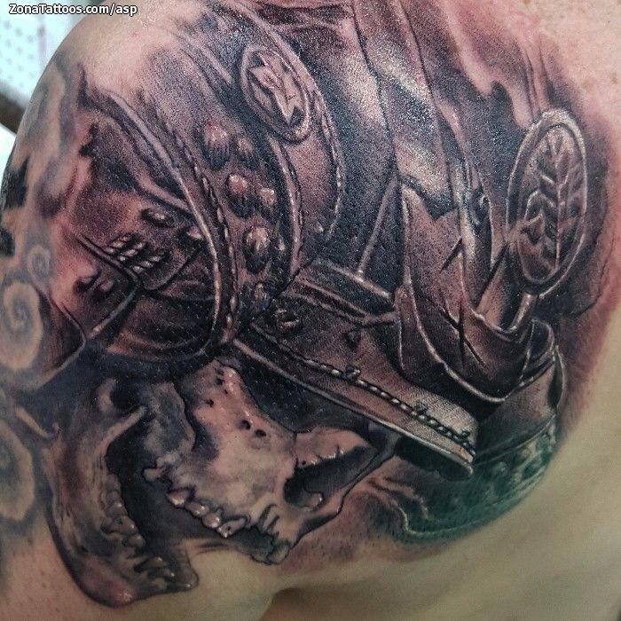 Tatuaje hecho por Álvaro Sánchez, de Granada (España). Si quieres ponerte en contacto con él para un tatuaje o ver más trabajos suyos visita su perfil: http://www.zonatattoos.com/asp    Si quieres ver más tatuajes de calaveras visita este otro enlace: http://www.zonatattoos.com/tag/2/tatuajes-de-calaveras    #Tatuajes #Tattoos #Ink #Calaveras