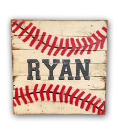 Rustic Baseball Sign/ Sports Decor/ Customized Nursery Sign by PalletsandPaint on Etsy https://www.etsy.com/listing/245049197/rustic-baseball-sign-sports-decor