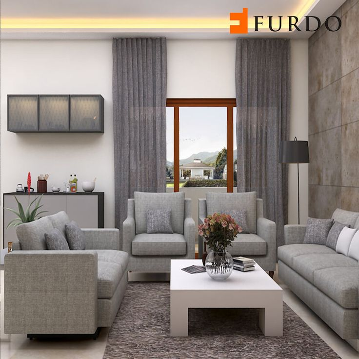 Monochrome Grey Living Room By Furdo