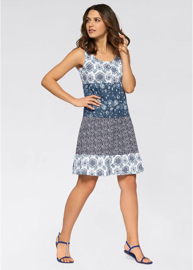 Shirt-Kleid indigo gemustert jetzt im Online Shop von bonprix.de ab ? 19,99 bestellen. Dieses Shirt-Kleid von John Baner ist der perfekte Begleiter an ...
