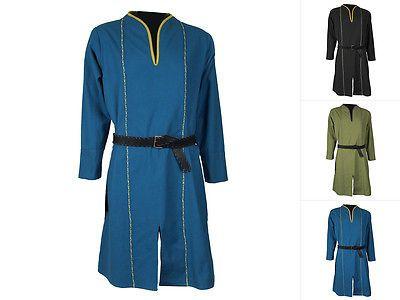 Epic-Armoury-Elfo-tunica-camicia-manica-lunga-Medioevo-Camicia-Medioevo-MORBIDE-XS-XL