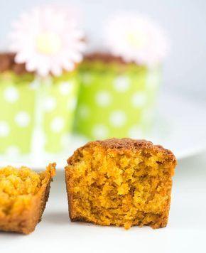 Karotten Dinkel Muffins - vegan & nussfrei, sowie fettarm!