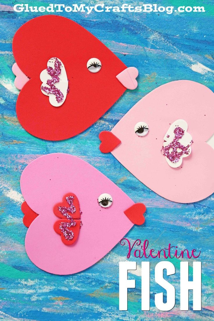 Kissing fish make adorable Valentines! An easy craft for preschoolers this February!