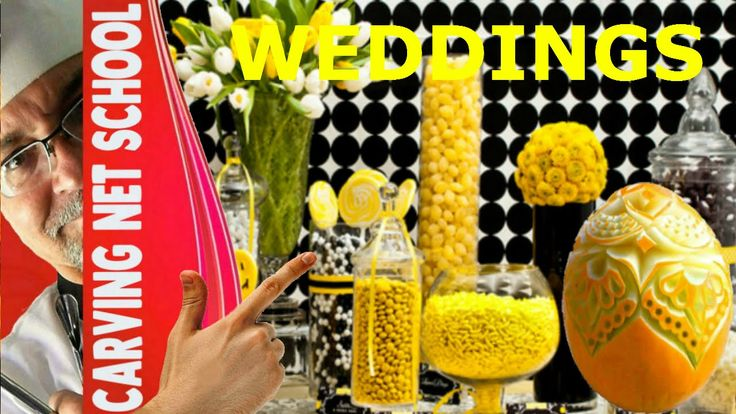 Weddings food garnish, carving ideas, Esculturas para Festas de casamentos,