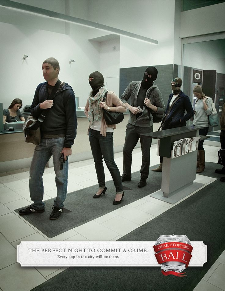 Crime Stoppers Ball    #ads #marketing #creative #werbung #print #poster #advertising #campaign < repinned by www.BlickeDeeler.de   Have a look on www.Printwerbung-Hamburg.de
