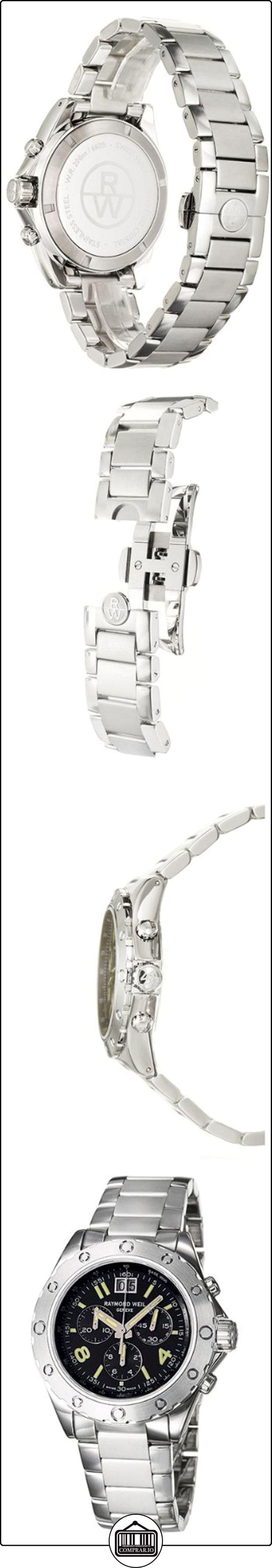Raymond Weil 8500-ST-05207 - Reloj de caballero de cuarzo, correa de acero inoxidable color plata  ✿ Relojes para hombre - (Lujo) ✿