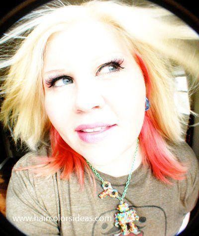 Fun Blonde Hair Color Ideas   For the Hot Pink color: Pravana ChromaSilk Vivids Magenta – Peekaboo ...