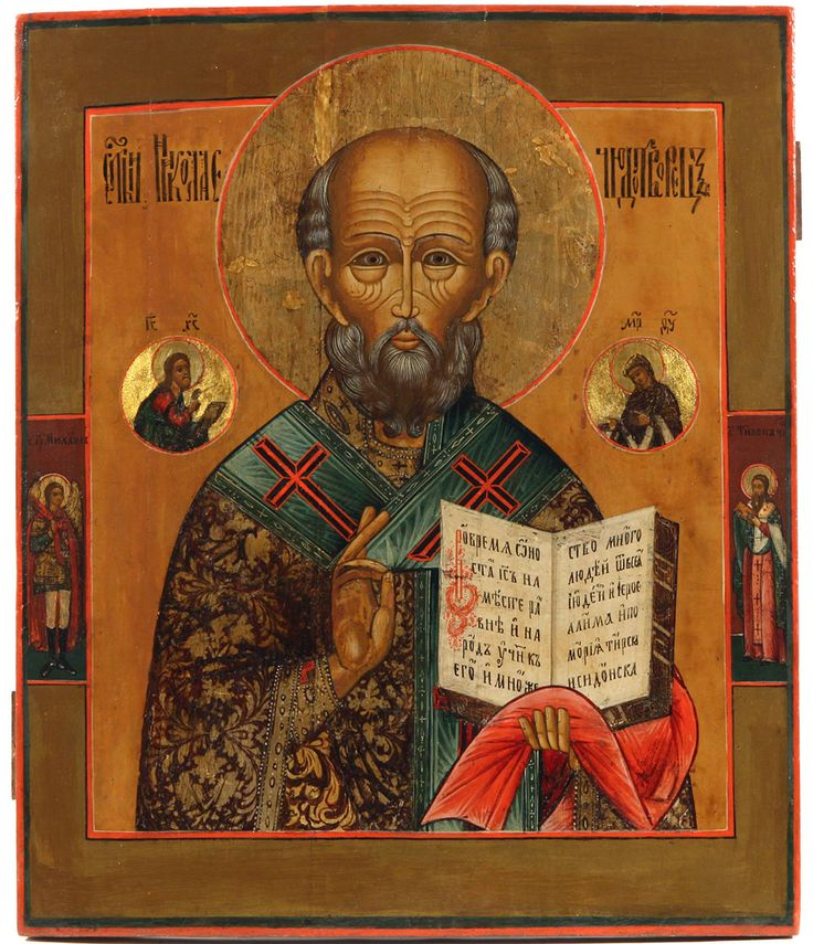 RUSSIAN ICON OF ST NICHOLAS THE WONDERWORKER