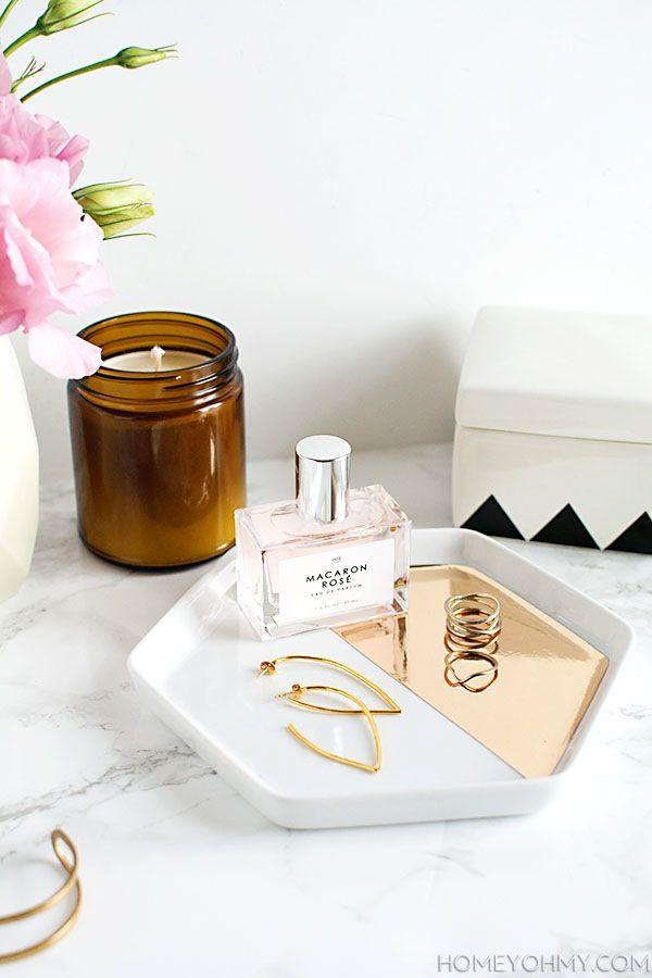 DIY: Mirrored Gold Jewelry Dish | Le Fashion | Bloglovin